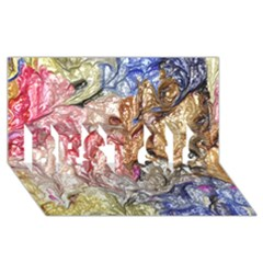 Strange Abstract 6 BEST SIS 3D Greeting Card (8x4)