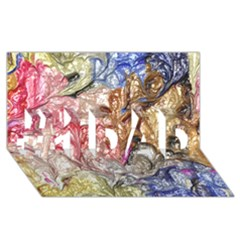 Strange Abstract 6 #1 Dad 3d Greeting Card (8x4)