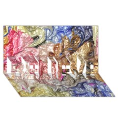 Strange Abstract 6 BELIEVE 3D Greeting Card (8x4)