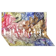 Strange Abstract 6 Engaged 3d Greeting Card (8x4)