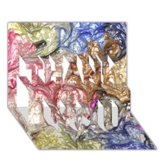 Strange Abstract 6 THANK YOU 3D Greeting Card (7x5)