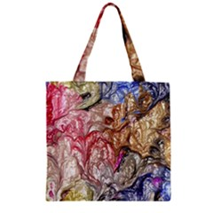 Strange Abstract 6 Zipper Grocery Tote Bags
