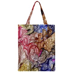 Strange Abstract 6 Zipper Classic Tote Bags