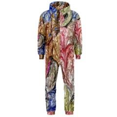 Strange Abstract 6 Hooded Jumpsuit (Men)
