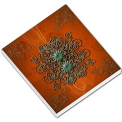 Wonderful Floral Elements On Soft Red Background Small Memo Pads