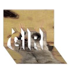 Meerkat 2 GIRL 3D Greeting Card (7x5)