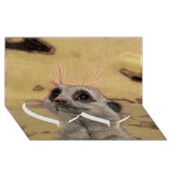 Meerkat 2 Twin Heart Bottom 3d Greeting Card (8x4)