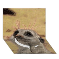 Meerkat 2 Circle Bottom 3D Greeting Card (7x5)