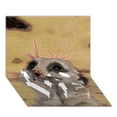Meerkat 2 LOVE Bottom 3D Greeting Card (7x5)