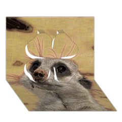 Meerkat 2 Clover 3D Greeting Card (7x5)