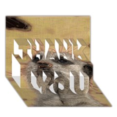 Meerkat 2 THANK YOU 3D Greeting Card (7x5)