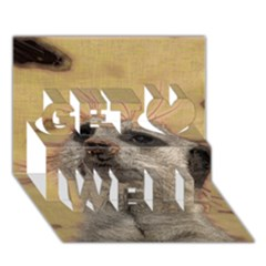 Meerkat 2 Get Well 3D Greeting Card (7x5)