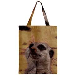 Meerkat 2 Zipper Classic Tote Bags