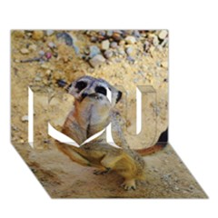 Lovely Meerkat 515p I Love You 3D Greeting Card (7x5)