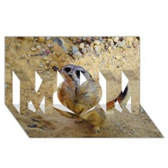 Lovely Meerkat 515p Mom 3d Greeting Card (8x4)