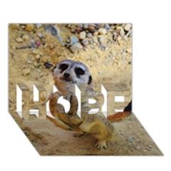 Lovely Meerkat 515p Hope 3d Greeting Card (7x5)