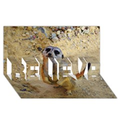 Lovely Meerkat 515p Believe 3d Greeting Card (8x4)