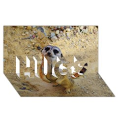 Lovely Meerkat 515p HUGS 3D Greeting Card (8x4)