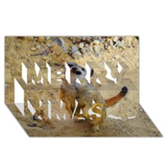 Lovely Meerkat 515p Merry Xmas 3d Greeting Card (8x4)
