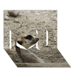 Adorable Meerkat I Love You 3D Greeting Card (7x5)