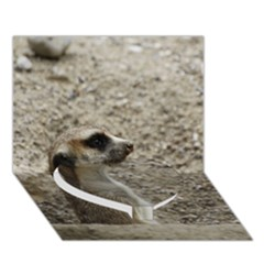 Adorable Meerkat Heart Bottom 3D Greeting Card (7x5)