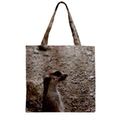 Adorable Meerkat Zipper Grocery Tote Bags
