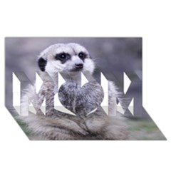 Adorable Meerkat 03 Mom 3d Greeting Card (8x4)