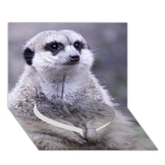 Adorable Meerkat 03 Heart Bottom 3d Greeting Card (7x5)