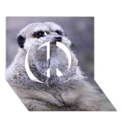 Adorable Meerkat 03 Peace Sign 3D Greeting Card (7x5)