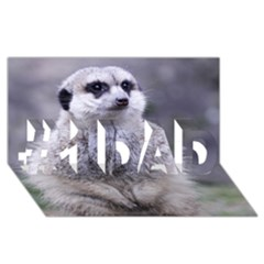 Adorable Meerkat 03 #1 Dad 3d Greeting Card (8x4)