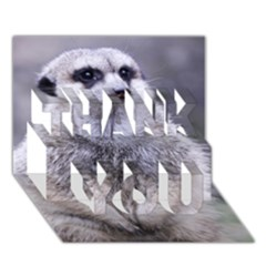 Adorable Meerkat 03 Thank You 3d Greeting Card (7x5)