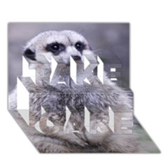 Adorable Meerkat 03 Take Care 3d Greeting Card (7x5)