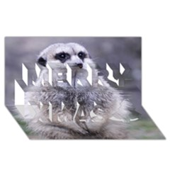 Adorable Meerkat 03 Merry Xmas 3d Greeting Card (8x4)