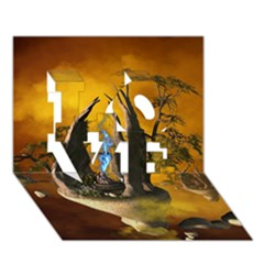 The Forgotten World In The Sky Love 3d Greeting Card (7x5)