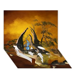 The Forgotten World In The Sky LOVE Bottom 3D Greeting Card (7x5)