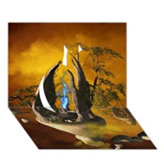 The Forgotten World In The Sky Apple 3D Greeting Card (7x5)