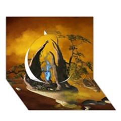 The Forgotten World In The Sky Circle 3D Greeting Card (7x5)