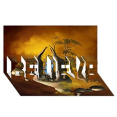 The Forgotten World In The Sky Believe 3d Greeting Card (8x4)