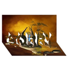 The Forgotten World In The Sky SORRY 3D Greeting Card (8x4)