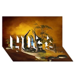 The Forgotten World In The Sky HUGS 3D Greeting Card (8x4)