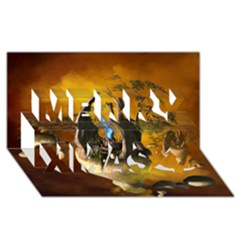 The Forgotten World In The Sky Merry Xmas 3D Greeting Card (8x4)