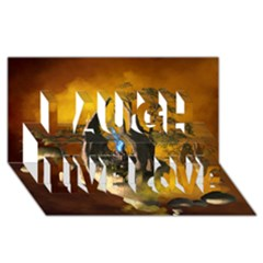 The Forgotten World In The Sky Laugh Live Love 3d Greeting Card (8x4)