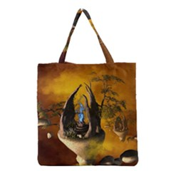 The Forgotten World In The Sky Grocery Tote Bags