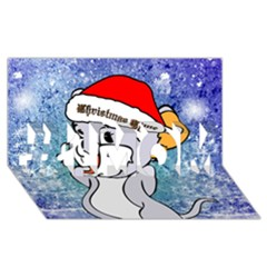 Funny Cute Christmas Mouse With Christmas Tree And Snowflakses #1 Mom 3d Greeting Cards (8x4)