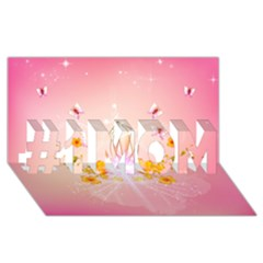 Wonderful Flowers With Butterflies And Diamond In Soft Pink Colors #1 Mom 3d Greeting Cards (8x4)