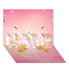 Wonderful Flowers With Butterflies And Diamond In Soft Pink Colors Hope 3d Greeting Card (7x5)