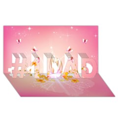 Wonderful Flowers With Butterflies And Diamond In Soft Pink Colors #1 Dad 3d Greeting Card (8x4)