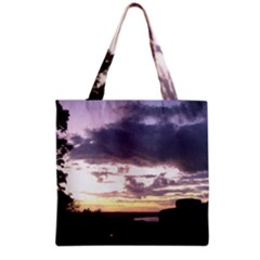 Sunset Over The Valley Grocery Tote Bags