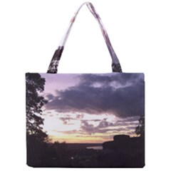 Sunset Over The Valley Tiny Tote Bags