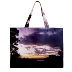 Sunset Over The Valley Zipper Tiny Tote Bags
